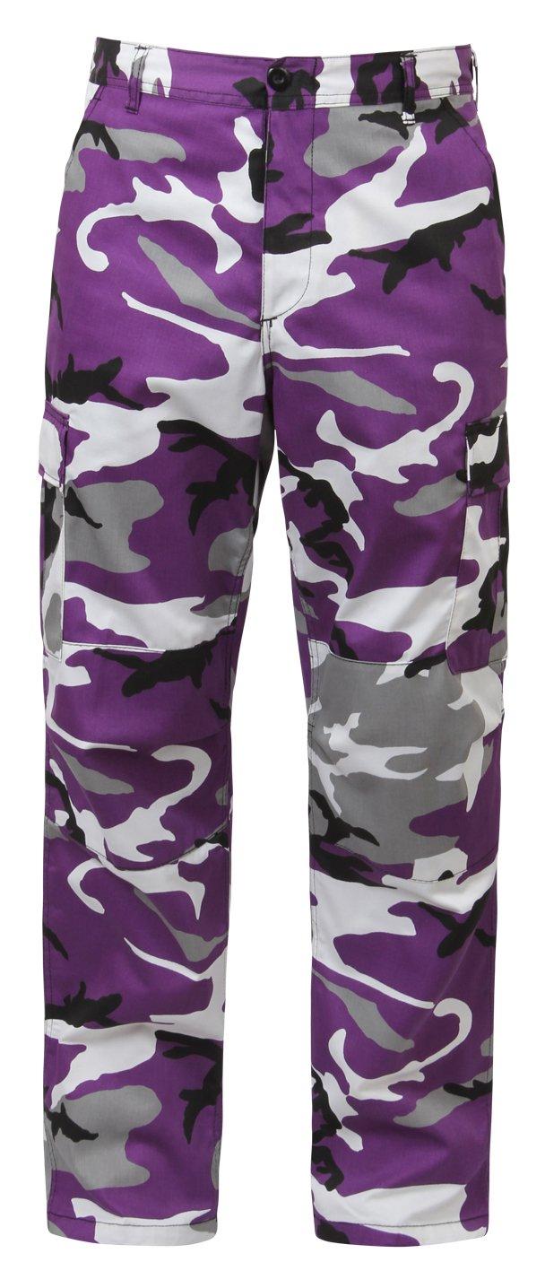 Rothco Bdu Pant, Ultra Violet Camo, Medium