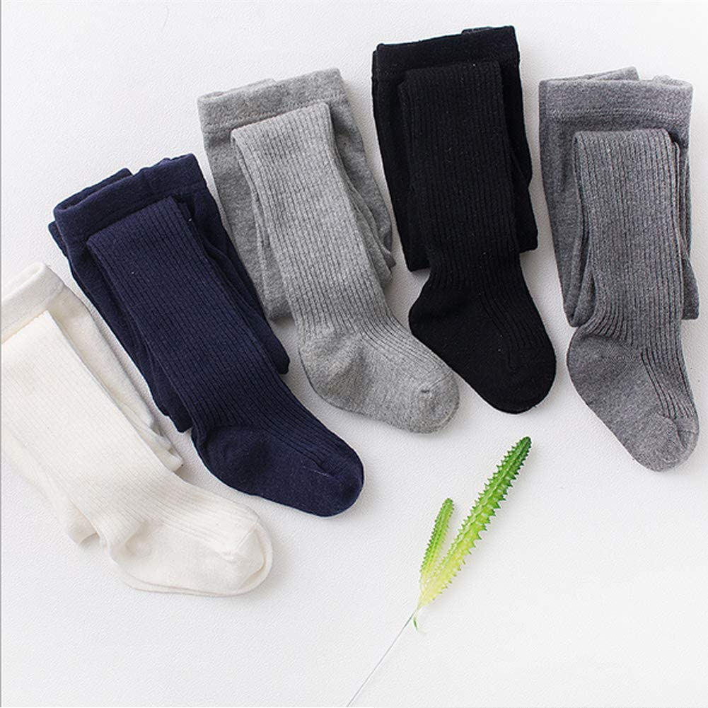 Looching Toddler Baby Girls Solid Cable Knit Cotton Tights 2-8 Years Little Kids Pantyhose Leggings Stocking Pants