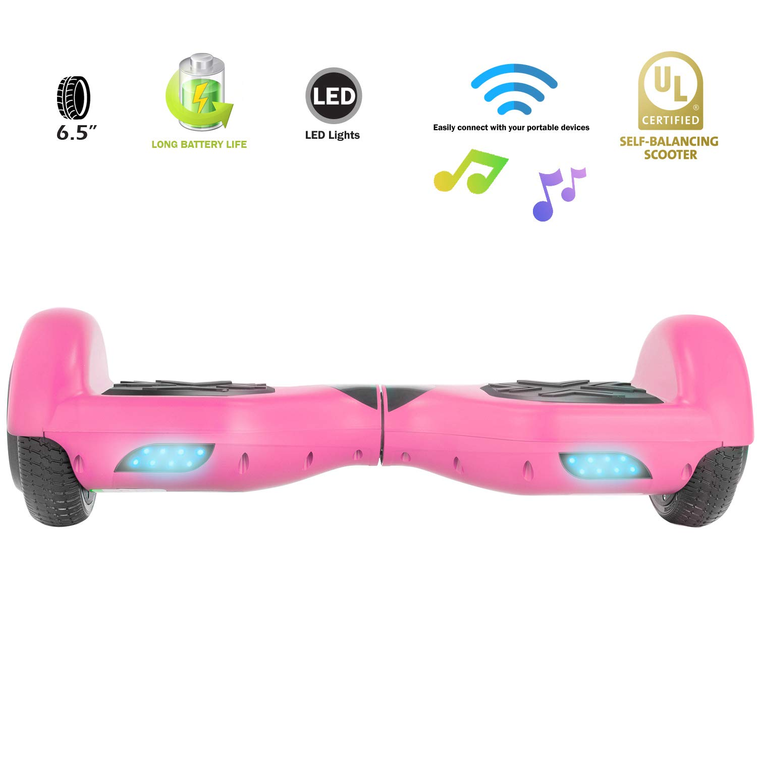 XPRIT Easter Sale Hoverboard w/Bluetooth Speaker (Pink) by XPRIT (Image #5)