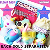 SQUSHUMS Original Squishies By Super Slow Rising squishes, Fruit Scented Jumbo Squishys : 1 Per Blind Bag : Unicorn, Airplane, Heart Cat, Strawberry Cake OR Elephant : FREE Carrying Case!