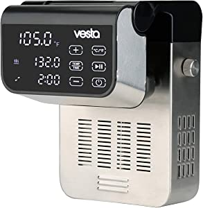 Sous Vide Precision Cooker by Vesta Precision - Imersa Expert | Powerful Pump Design | Accurate, Stable Temperature Control | Wi-Fi App Control | Touch Panel | 50 Liters | 1500 Watts