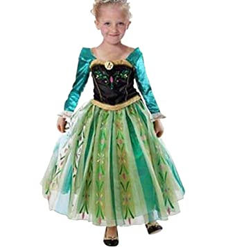 ampia selezione di design acquista per il più votato genuino MissFox Vestiti Di Carnevale Di Anna Frozen Abito Ragazze 110CM ...