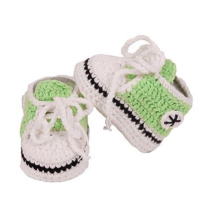 yeahibaby bebé hecha a mano calcetines de punto Crochet Cálido cuna zapatos patucos para bebés 10