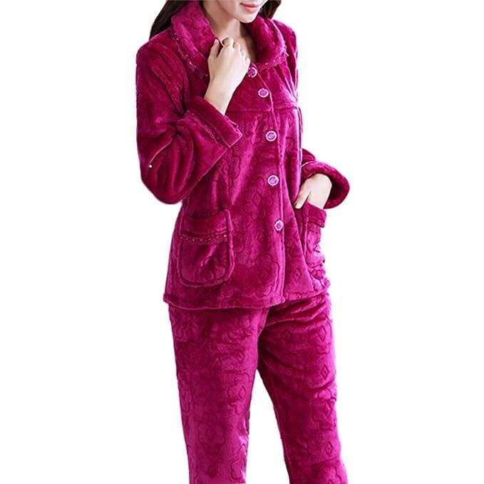 Fancy Pumpkin Pijamas de Franela de Mujer más Gruesa Cálida Traje de Bata # 02
