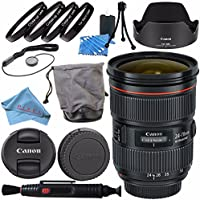 Canon EF 24-70mm f/2.8L II USM Lens 5175B002 + 82mm Macro Close Up Kit + Lens Cleaning Kit + Fibercloth Bundle
