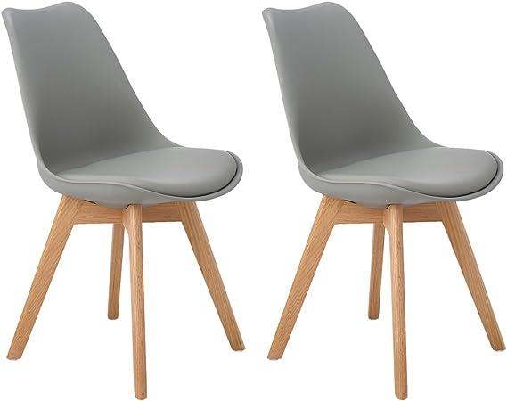 DORAFAIR Pack de 2 sillas escandinava Estilo nórdico Silla de ...