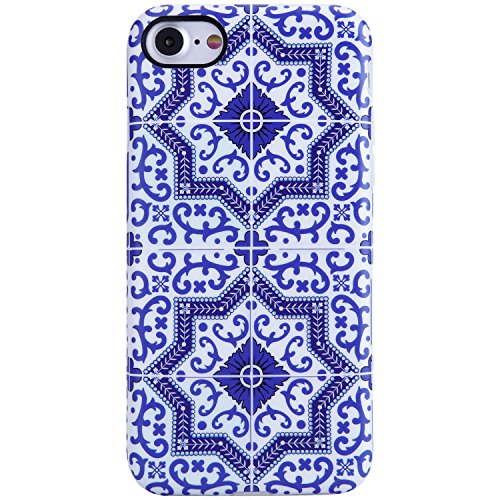 Pattern White Case (iPhone 7 Case,iPhone 8 Case,Blue and White Morocco pattern, VIVIBIN Anti-Scratch Shock Proof Soft TPU Gel Case Silicon Protective Skin Cover for iPhone 7 / iPhone 8 4.7
