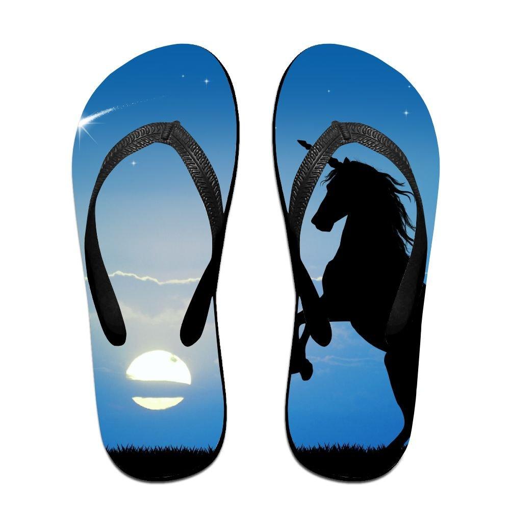 Unisex Unicorn At Sunset Summer Beach Herringbone Shoes Sandals Slipper Indoor & Outdoor Flip-flops