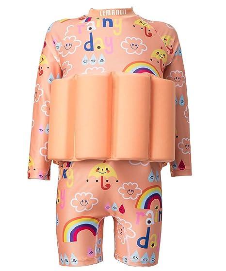 409936e4bdd25 Amazon.com   UV UPF 50+ Float Suit Girls Rash Guard Swimsuit with ...
