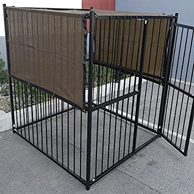 10' X 10' Dark Brown UV Rated Dog Kennel Shade Cover, Sunblock Shade Panel, Shade Tarp Panel W/Grommets (Not the kennel)