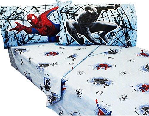 4pc Marvel Spiderman Full Sheet Set Spidey Venom Double Trouble Bedding Accessories