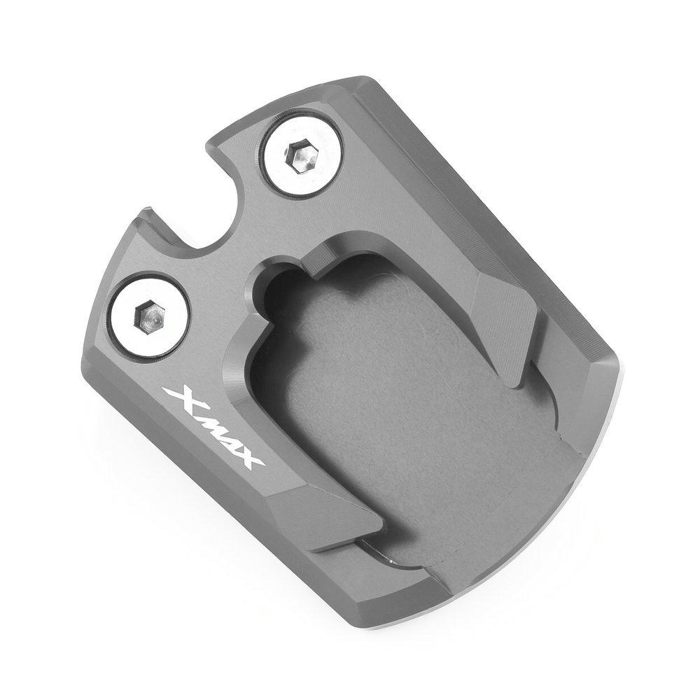 Heinmo Aluminio Accesorios de la motocicleta Soporte lateral Sidestand Extender Placa Pad Pie lateral Stand Agrandar Kickstand Extension Pad Para YAMAHA XMAX 125//250//300 2017-18