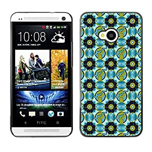 ZECASE Funda Carcasa Tapa Case Cover Para HTC One M7 No.0003367