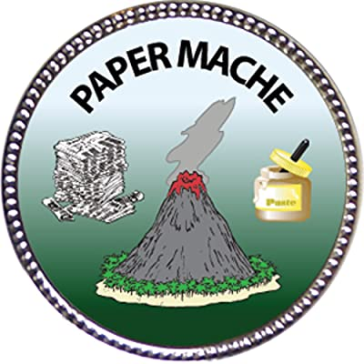 Keepsake Awards Paper Mache Award, 1 inch Dia Silver Pin Creative Arts and Hobbies Collection: Toys & Games