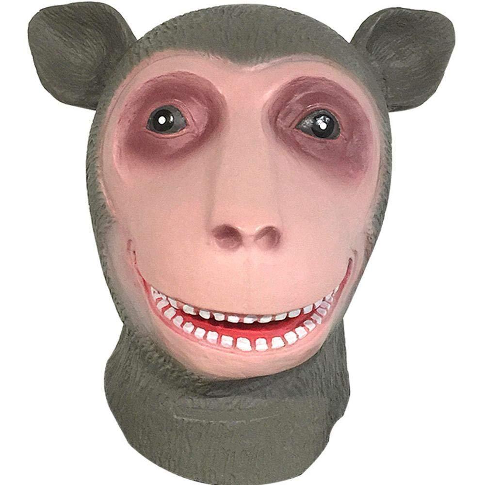 Littlefairy Maschera Halloween,Oggetti di Scena di Scimmia Maschera Cartoon Lattice Copricapo Costume Palla Prestazioni