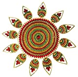 Diwali festive Rangoli Pattern Floor Sticker PVC Vinyl Floor Art Beautiful Rangoli