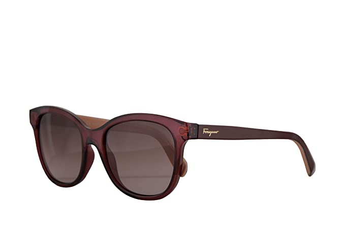 b3228ca42d1 Image Unavailable. Image not available for. Color  Salvatore Ferragamo  SF834S Sunglasses Crystal Wine w Red Gradient Lens ...