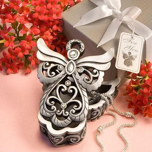 Angel Design curio box from the Heavenly Favors Collection (Set of 18) - Angel Design Curio Box