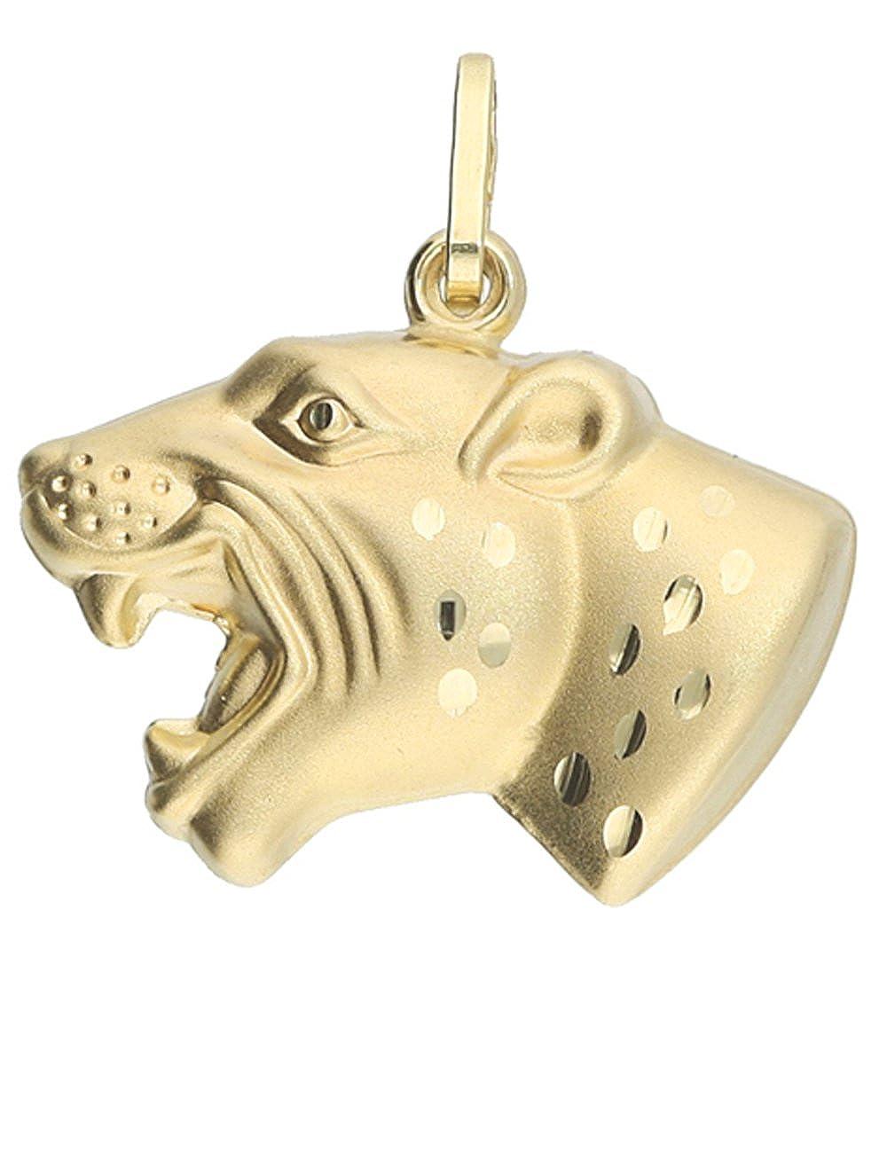 MyGold MOD-05955 Pendentif en forme de panthère en or jaune, sans chaîne, 19 mm x 19 mm MOD-05955-V0009126