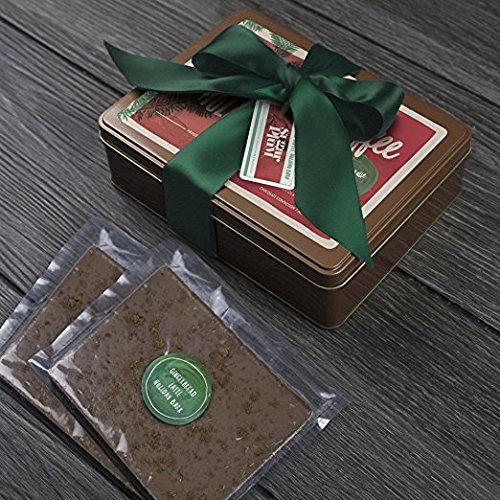 Holiday Chocolate Bark Gift Wrapped Best Premium Gourmet  Gingerbread Latte