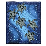 Dawhud Direct Tribal Sea Turtles Fleece Throw Blanket