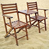 A&B Home KGF38466 Folding Attached Chairs and Table