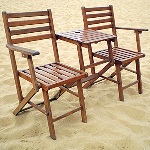 A&B Home KGF38466 Folding Attached Chairs and Table by A&B Home