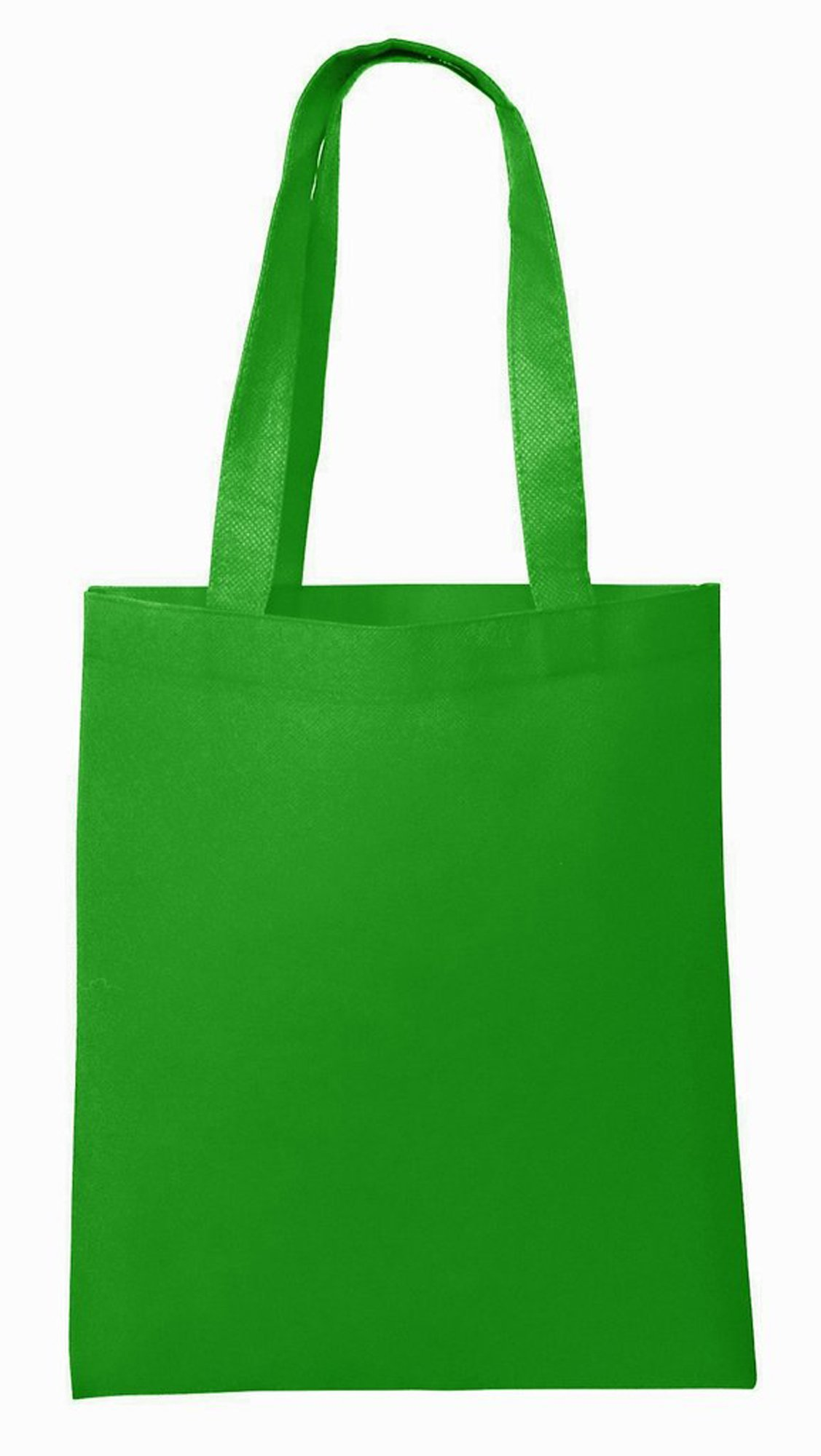 Convention Trade Show Reusable Bags in BULK Stitched Sturdy Non-Woven Material Event Give Away Promo Tote Bags for Events, Conventions, Promotions - NTB10 (100, Kelly Green)