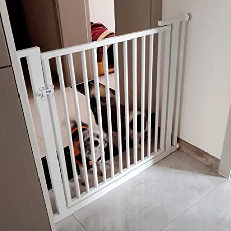 Barrera Seguridad Puertas Extra Altas para Bebés, Puerta Interior para Mascotas/Bebés para Escaleras/Puertas/Barandillas, Metal Expandible, 90 Cm De Altura (Size : 78-80cm): Amazon.es: Hogar