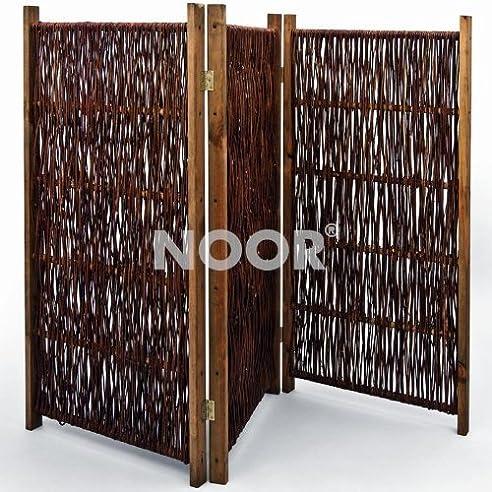 Noor Weiden-Paravent 180 X 180 Cm 3Teilig: Amazon.De: Garten