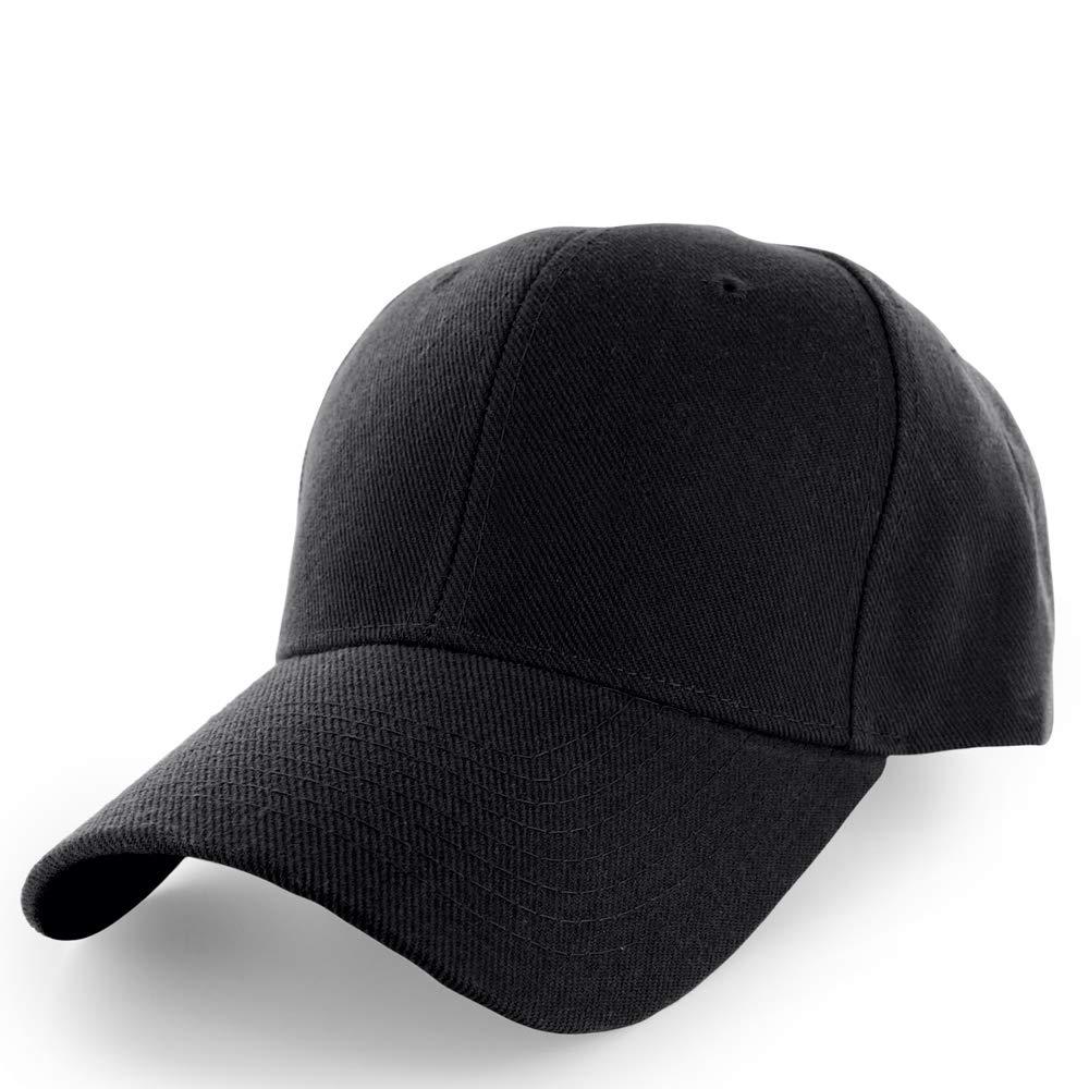 KANGORA Plain Baseball Cap Adjustable Men Women Unisex  6b73ee2878c