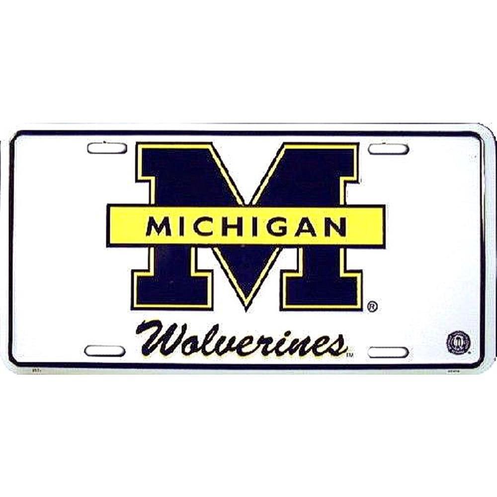 Wolverines Blue M License Plate Signs 4 Fun SL2074 MI Univ