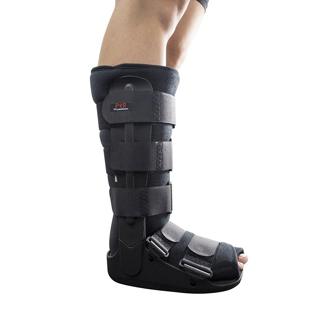Tobillera de pie para fractura de botas, soporte ligero y botas protectoras para lesiones de pie y tobillo, ideal para fracturas, post ligamento y ...