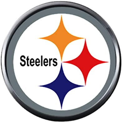 2387c693 Image Unavailable. Image not available for. Color: NFL Logo Pittsburgh  Steelers Football Fan Team Spirit 18MM - 20MM Fashion Snap Charm