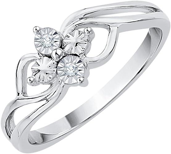 1//10 cttw, Diamond Wedding Band in 10K White Gold G-H,I2-I3 Size-3.75