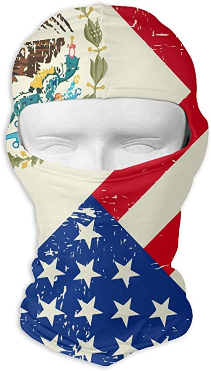 US Stock Mexico Flag Outdoor Face Mask Bandana Moisture Wicking Neck Gaiter Dust