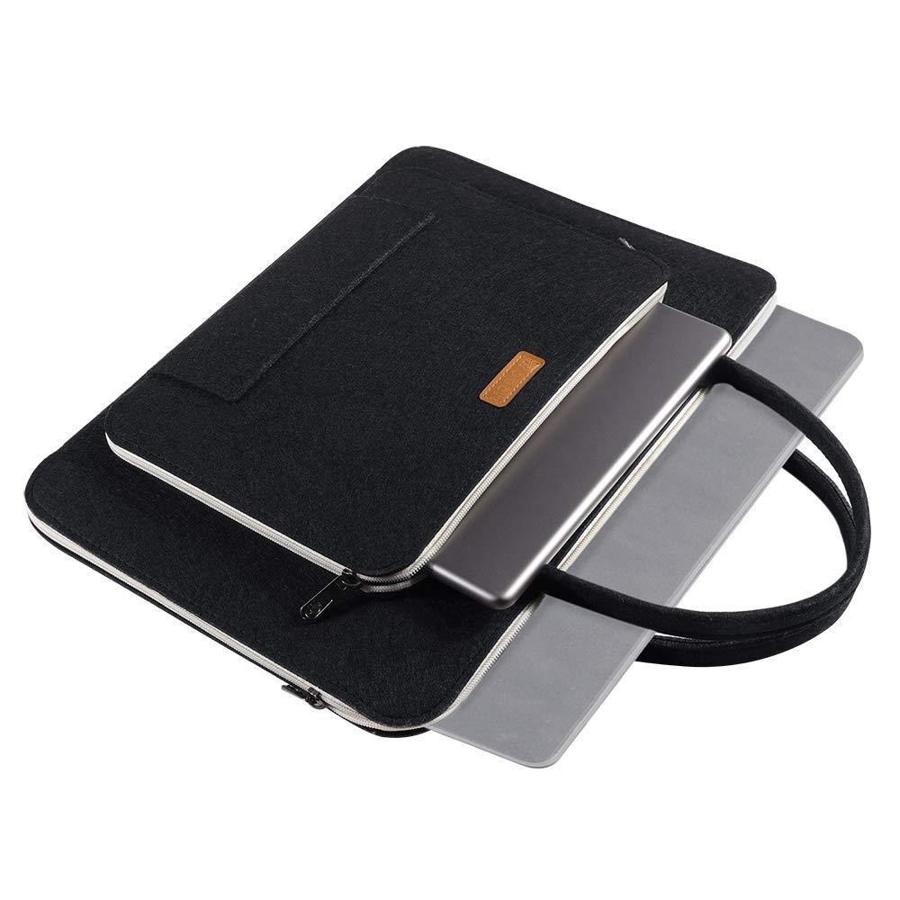 Grau /& Schwarz 43,9cm Ropch Laptoptasche 17,3 Zoll Filz Notebooktasche Laptop H/ülle Schutzh/ülle Tasche Schutzabdeckung mit Griff f/ür Acer // Dell // HP // Lenovo
