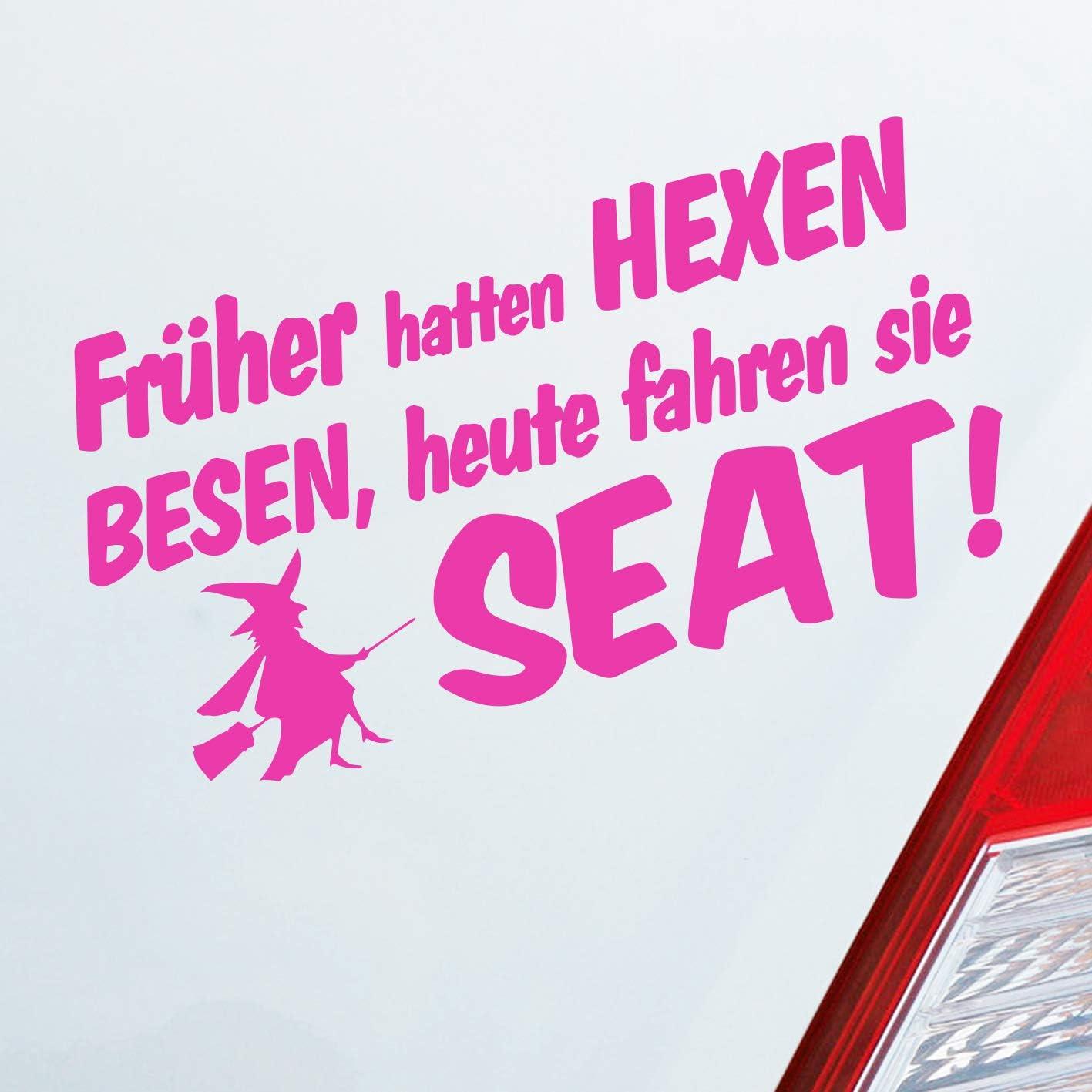 Auto Aufkleber In Deiner Wunschfarbe Früher Hatten Hexen Besen Heute Fahren Sie Für Seat Fans Fun 19x10 Cm Sticker Auto