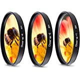 ZEROPORTJAPAN クローズアップレンズ 3枚セット 接写 マクロ撮影用 レンズフィルター (43mm)