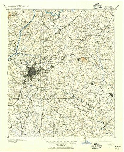 Atlanta GA topo map, 1:125000 scale, 30 X 30 Minute, Historical, 1888, updated 1955, 20.8 x 17 IN - - Ga Atlanta Cumberland