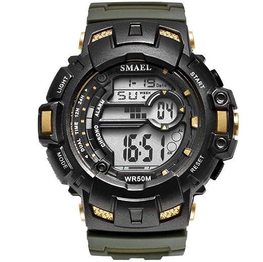 d41aa10225e9 Relojes Deportes al Aire Libre Impermeables a Prueba de Golpes Pantalla  única Reloj electrónico Reloj Deportivo para jóvenes