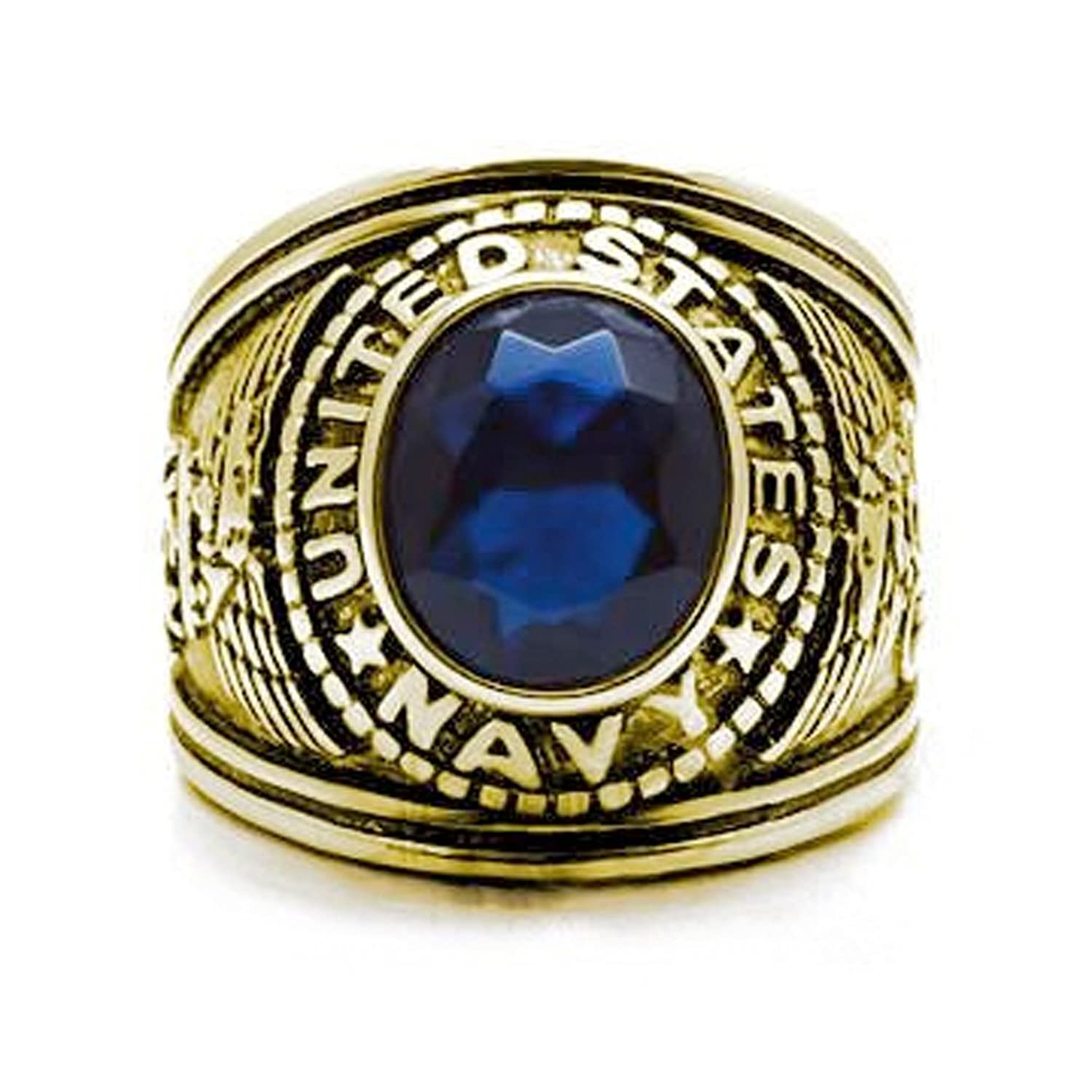 ring mens navy army rings usaf air plated military men steel rhinestones force us gold s stainless product