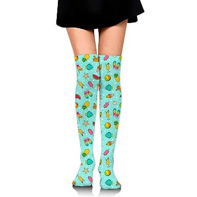 8b49652cb2e Cotton Thigh High Compression Socks