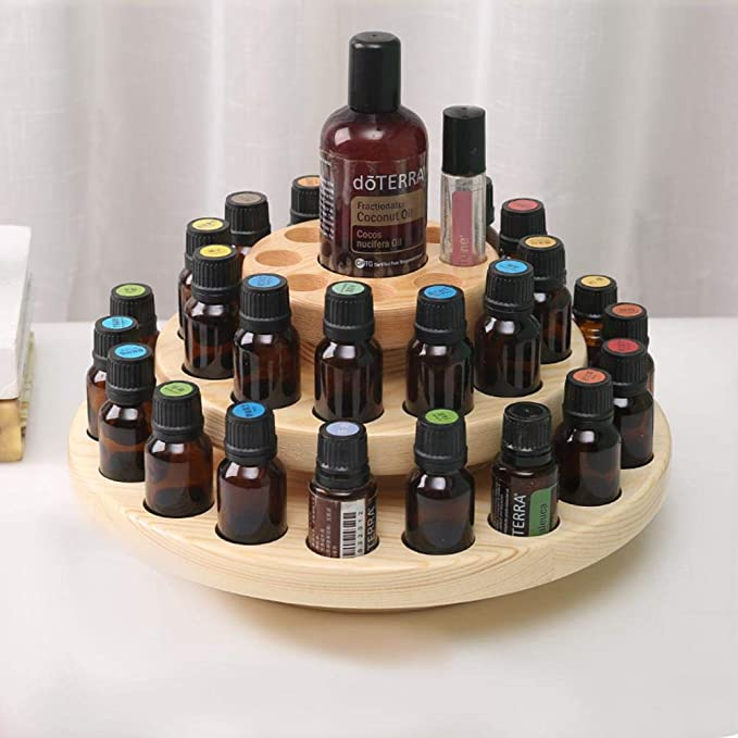 Amazon.com: Essential Oils Storage Wooden Box 39 Slots Three Layers Essential Oil Storage Box Wooden Case Aromatherapy: Home & Kitchen