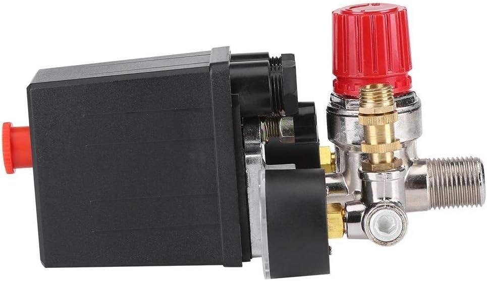 Broco Compressore dAria di Controllo Pressostato valvola di Regolazione 90-120 PSI con Double calibri