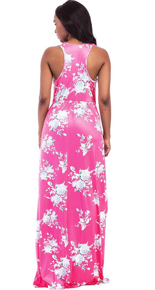 ThusFar Women\'s Floral Maxi Dress Red
