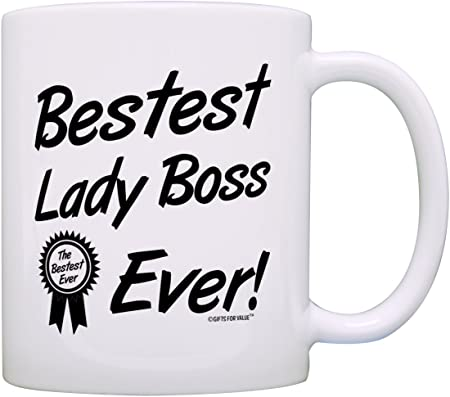 Boss Gifts Bestest Lady Boss Ever Best Manager Gifts Office Gift Coffee Mug Tea Cup White