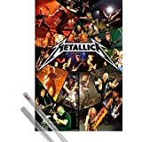 Poster + Hanger: Metallica Poster (36x24 inches) Through The Never, Live And 1 Set Of Transparent 1art1® Poster Hangers