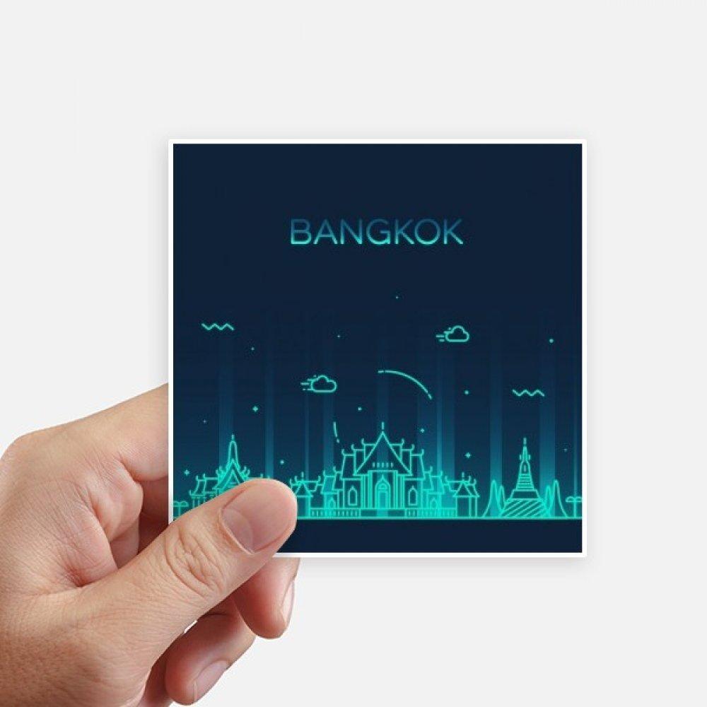Amazon com diythinker thai customs culture shadow bangkok square stickers 10cm wall suitcase laptop motobike decal 8pcs home kitchen