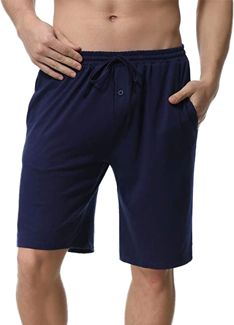 Aibrou Pantalones Pijama Hombre Corto Verano Algodón Pantalon para ...